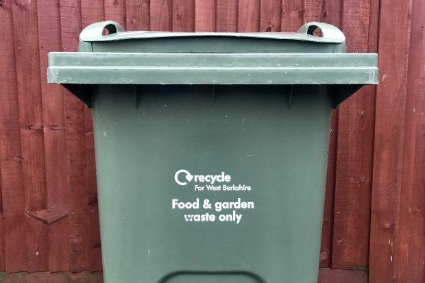 Recycling bin in West Berkshire Council
